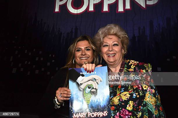 Andrea Bocan and Birgit Sarata attend the Mary Poppins musical premiere at Ronacher Theater on October 1 2014 in Vienna Austria