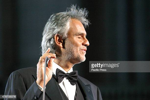 Andrea Bocelli an Italian tenor performs in his live concert The international event concert which is unique and unrepeatable was organized according...