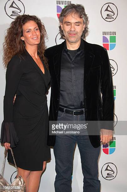 Andrea Bocelli and guest during The 7th Annual Latin GRAMMY Awards Arrivals at Madison Square Garden in New York City New York United States