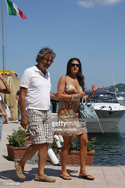 Andrea Bocelli and Veronica Berti attend day one of the Ischia Global Film and Music Festival on July 12 2009 in Ischia Italy