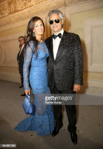 Andrea Bocelli and Veronica Berti attend the Celebrity Fight Night Gala celebrating Celebrity Fight Night In Italy benefitting The Andrea Bocelli...