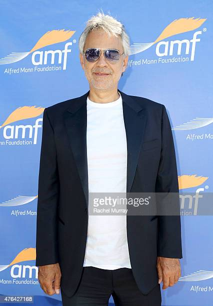 Andrea Bocelli attends Alfred Mann Foundation's an Evening Under The Stars with Andrea Bocelli on June 8 2015 in Los Angeles California