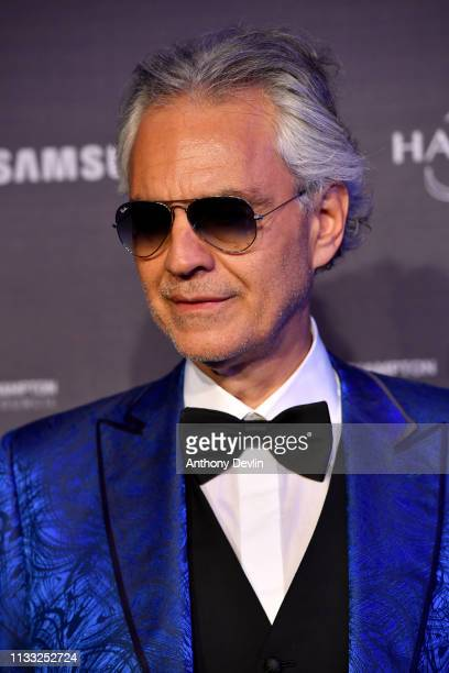 Andrea Bocelli attends the MSC Bellissima Naming Ceremony on March 02, 2019 in Southampton, England.