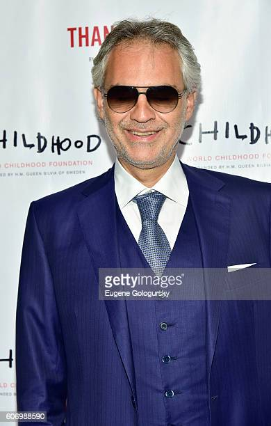 Andrea Bocelli attends the World Childhood Foundation USA Thank You Gala 2016 at Cipriani 42nd Street on September 16, 2016 in New York City.