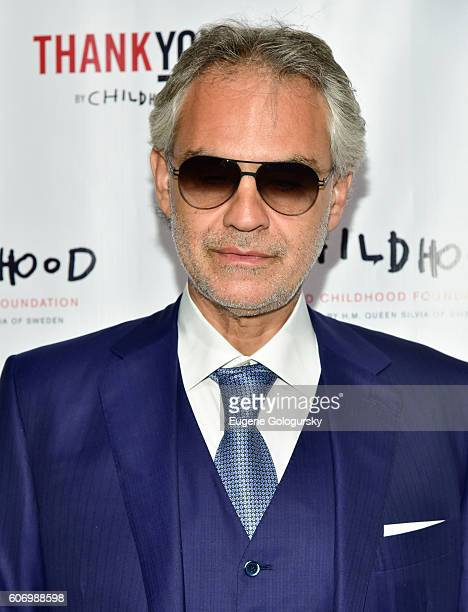 Andrea Bocelli attends the World Childhood Foundation USA Thank You Gala 2016 at Cipriani 42nd Street on September 16 2016 in New York City