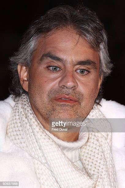 Andrea Bocelli attends the World Premiere of 'A Christmas Carol' at Empire Leicester Square on November 3 2009 in London England