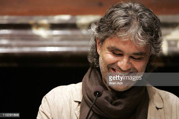 Andrea Bocelli during Andrea Bocelli Press Conference Announcing Upcoming Concerts In New York September 5 2006 at Italian Cultural Institute in New...