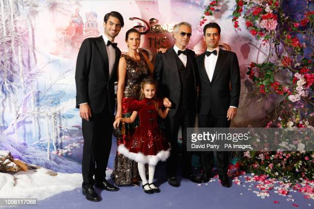 Andrea Bocelli Matteo Bocelli and family attending the European Premiere of The Nutcracker and the Four Realms held at the Vue Westfield London PRESS...