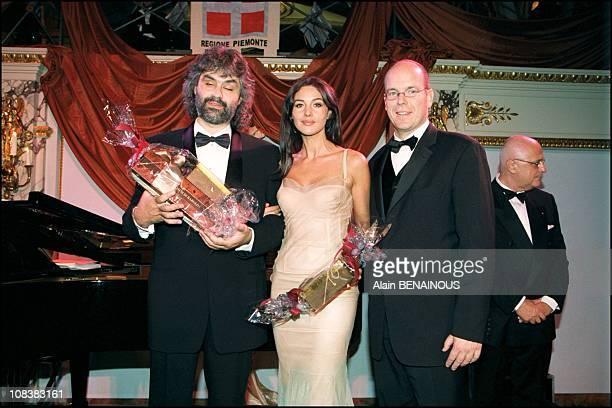Andrea Bocelli Monica Bellucci Prince Albert in Monaco on October 17 2000