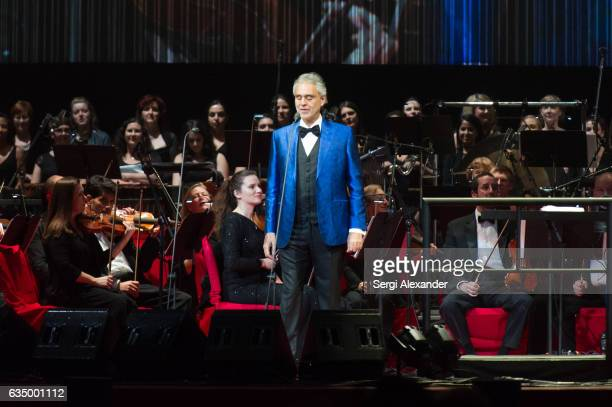 Andrea Bocelli performs at American Airlines Arena on February 12 2017 in Miami Florida