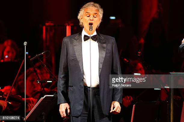 Andrea Bocelli performs at Hard Rock Live in the Seminole Hard Rock Hotel Casino on February 13 2016 in Hollywood Florida
