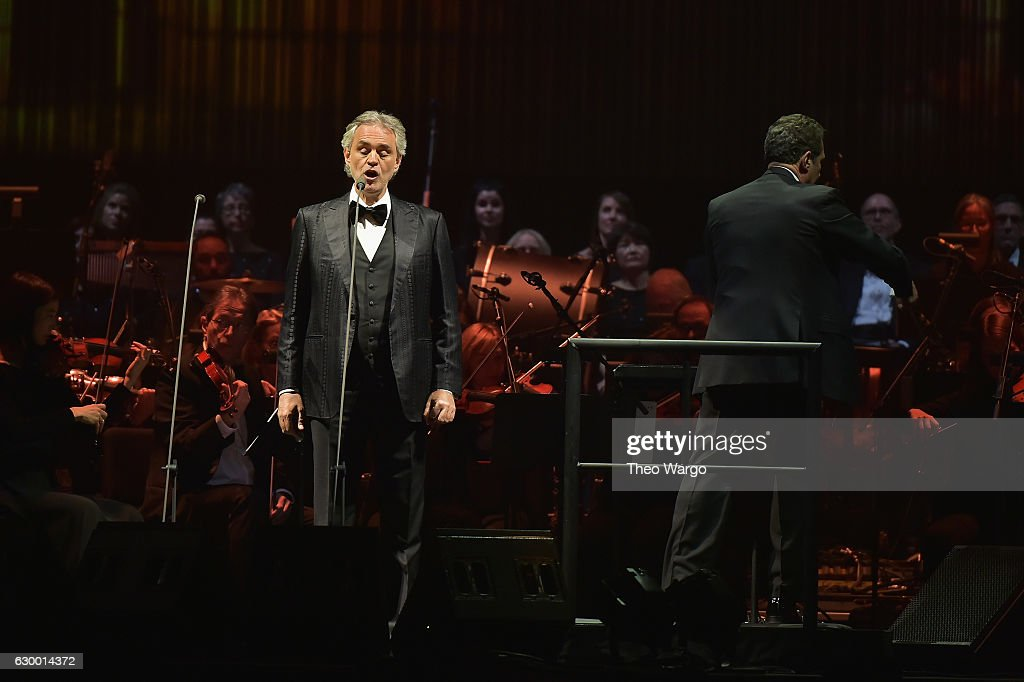 Perfect Andrea Bocelli Performs At Madison Square Garden On December 15, 2016 In  New York City
