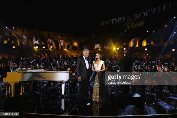 Andrea Bocelli performs at the Andrea Bocelli show as part of the 2017 Celebrity Fight Night in Italy Benefiting The Andrea Bocelli Foundation and...