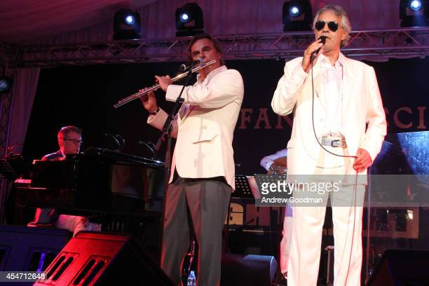 Andrea Bocelli performs at the White Party Dinner Hosted by Andrea and Veronica Bocelli Celebrating Celebrity Fight Night In Italy Benefitting The...