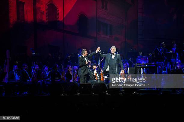Andrea Bocelli performs at Verizon Center on December 13 2015 in Washington DC