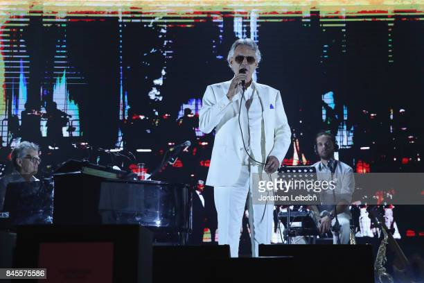 Andrea Bocelli performs during the Closing Night Gala at Cinecittà as part of the 2017 Celebrity Fight Night in Italy Benefiting The Andrea Bocelli...