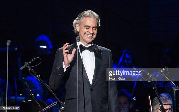 Andrea Bocelli performs in concert at Madison Square Garden on December 9, 2015 in New York City.