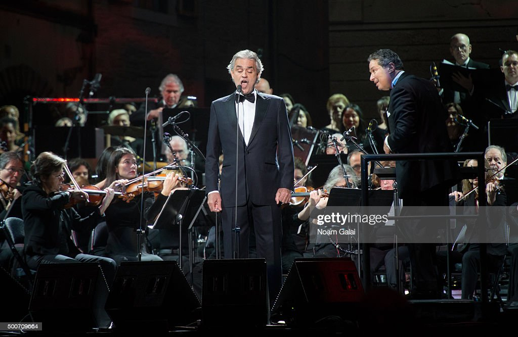 Superior Andrea Bocelli Performs In Concert At Madison Square Garden On December 9,  2015 In New