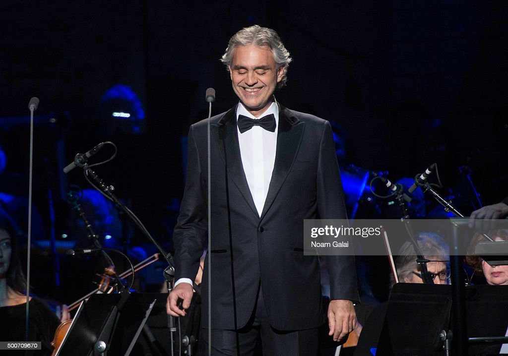 Andrea Bocelli Performs In Concert At Madison Square Garden On December 9,  2015 In New