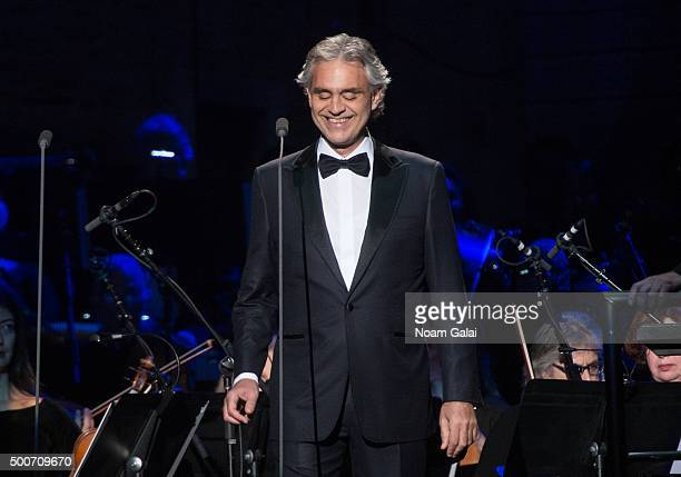 Andrea Bocelli performs in concert at Madison Square Garden on December 9 2015 in New York City