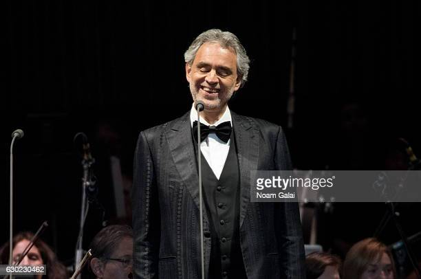 Andrea Bocelli performs in concert at Prudential Center on December 18 2016 in Newark New Jersey