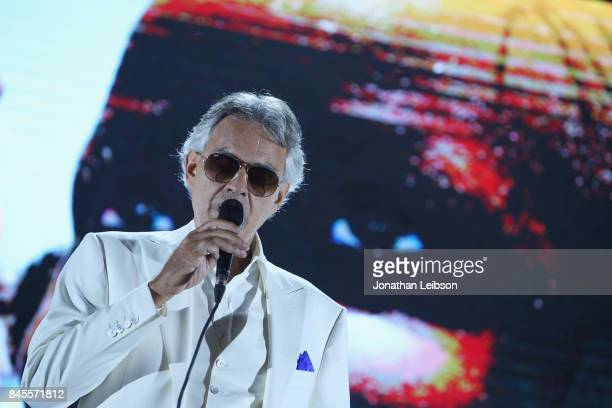 Andrea Bocelli performs the Closing Night Gala at Cinecittà as part of the 2017 Celebrity Fight Night in Italy Benefiting The Andrea Bocelli...