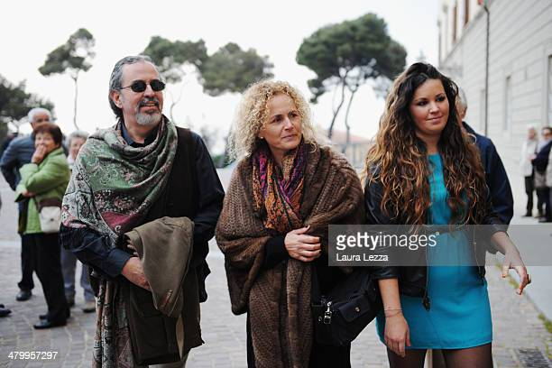 Andrea Bocelli's brother Alberto Bocelli arrive at Sanctuary of Madonna di Montenero before the wedding of Italian singer Andrea Bocelli with...