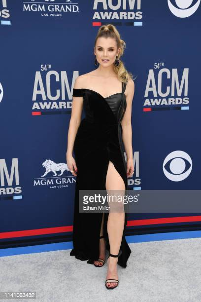 Andrea Boehlke attends the 54th Academy Of Country Music Awards at MGM Grand Hotel Casino on April 07 2019 in Las Vegas Nevada
