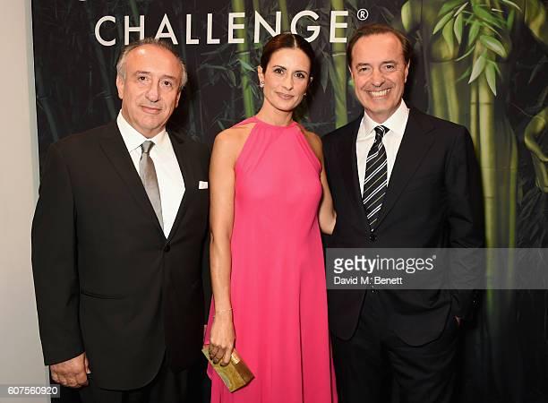 Andrea Bonaveri Livia Firth and Guido Bonaveri attend the Green Carpet Challenge 2016 BAFTA Night to Remember on September 18 2016 in London England