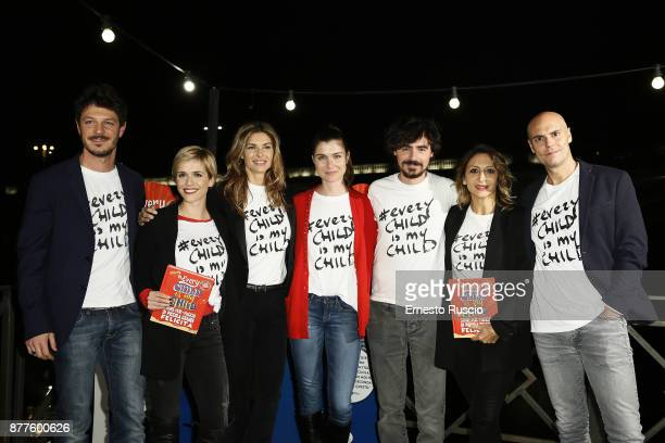 Andrea Bosca, Lorena Cacciatore, Martina Colombari, Vittoria Puccini, Edoardo Natoli, Paola Minaccioni and Nicolo Agliardi attend...