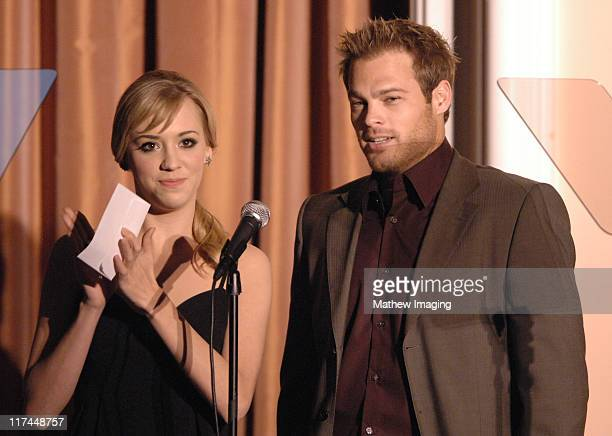Andrea Bowen and George Stults during The 11th Annual PRISM Awards Award Ceremony at Beverly Hills Hotel in Beverly Hills California United States