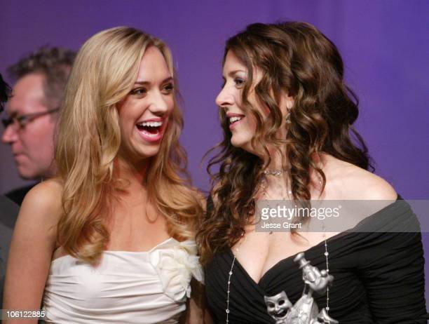 Andrea Bowen and Joely Fisher during 51st Annual Thalians Ball - Show at Hyatt Regency Century Plaza in Century City, California, United States.