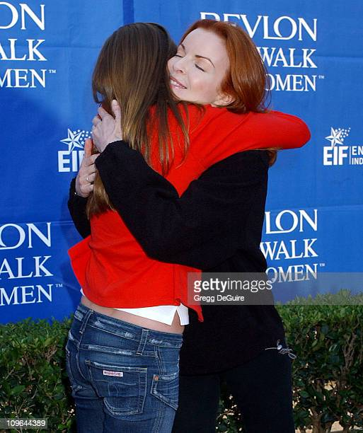 Andrea Bowen and Marcia Cross during 12th Annual Revlon Run/Walk For Women Los Angeles at Los Angeles Memorial Coliseum in Los Angeles California...