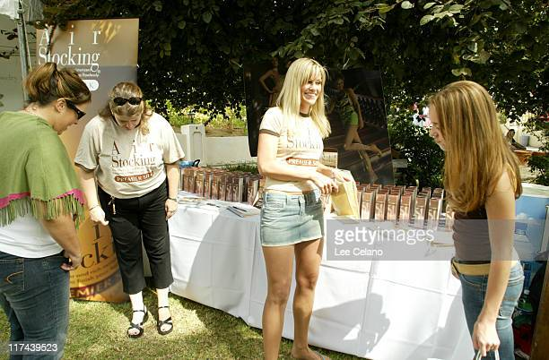 Andrea Bowen at Air Stocking during Silver Spoon Hollywood Buffet Day Two at Private Estate in Los Angeles California United States Photo by Lee...