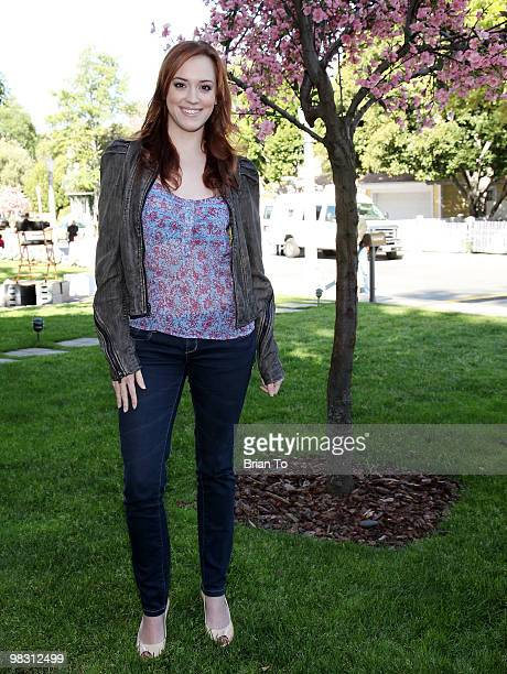 Andrea Bowen attends Child Hunger Ends Here neighborhood celebrity rally on Wisteria Lane at NBC Universal lot on April 7 2010 in Universal City...