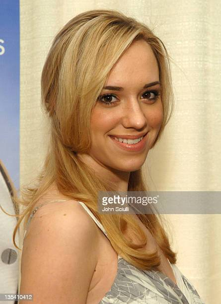 Andrea Bowen during Antiquorum Presents Omegamania Los Angeles Cocktail Party at Regent Beverly Wilshire in Los Angeles California United States