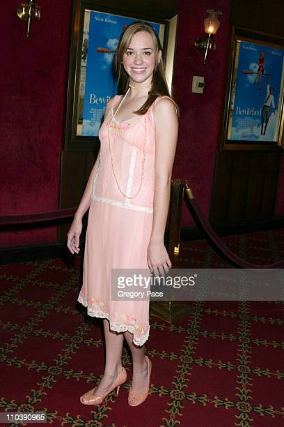 Andrea Bowen during Bewitched New York City Premiere Inside Arrivals at Ziegfeld Theater in New York City New York United States