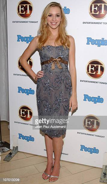 Andrea Bowen during Entertainment Tonight and People Magazine Emmy After Party Arrivals at Sky Bar in Los Angeles California United States