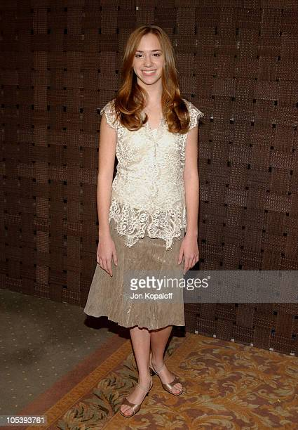 Andrea Bowen during In Style Magazine and the DIC Host Luncheon to Celebrate the 2005 Awards Season at Beverly Hills Hotel in Beverly Hills...