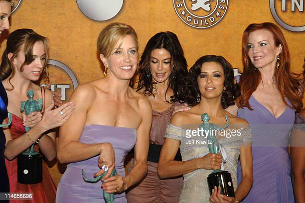 Andrea Bowen Felicity Huffman Teri Hatcher Eva Longoria and Marcia Cross of 'Desperate Housewives' winner of Outstanding Performance by an Ensemble...