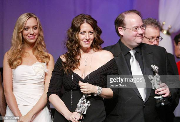 Andrea Bowen, Joely Fisher and Marc Cherry during 51st Annual Thalians Ball - Show at Hyatt Regency Century Plaza in Century City, California, United...