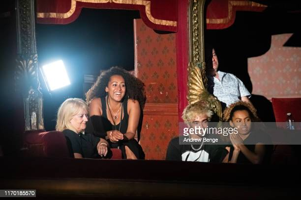 Andrea Brown Danielle Brown and Phoenix Chi in the audience during her Brutally Honest Fabulous Show at The Grand Theatre Opera House on August 25...