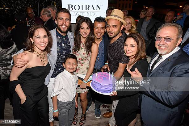 Andrea Burns Josh Segarra Ana Villafane Gloria Estefan Emilio Estefan and cast members attend as Botran Rum celebrates the Chicago premiere Of Emilio...