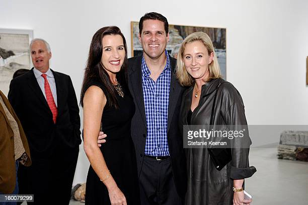 Andrea Busch Eric Busch and Eva Sweeney attend ESMoA Celebrates Opening Experience With DESIRE Exhibit at El Segundo Museum of Art on January 25 2013...