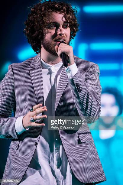 Andrea Butturini perform at 'The Voice Of Italy' final photocall on May 8 2018 in Milan Italy