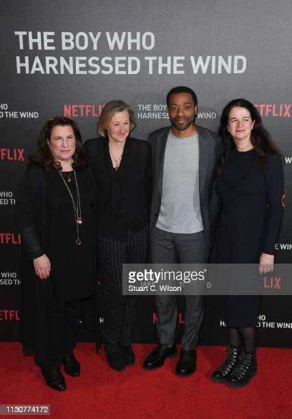 Andrea Calderwood Gail Egan Chiwetel Ejiofor and Alexa Fogel attend the UK Premiere of The Boy Who Harnessed The Wind at Ham Yard Hotel on February...