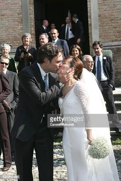 Andrea Camerana and Alexia Aquilani during The Wedding of Alexia Aquilani and Andrea Camerana October 9 2005 at Castello di Rivalta in Castello di...