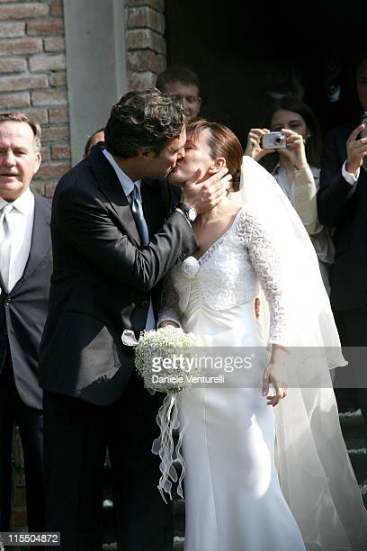 Andrea Camerana and his new wife Alexia Aquilani during The Wedding of Alexia Aquilani and Andrea Camerana October 9 2005 at Castello di Rivalta in...