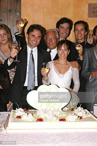 Andrea Camerana Giorgio Armani and Alexia Aquilani with wedding guests