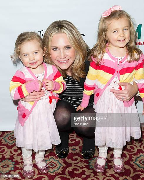 Andrea Canning and children attend Elf The Musical Holiday Christmas Party Hosted By The Moms at Al Hirschfeld Theatre on November 13 2012 in New...